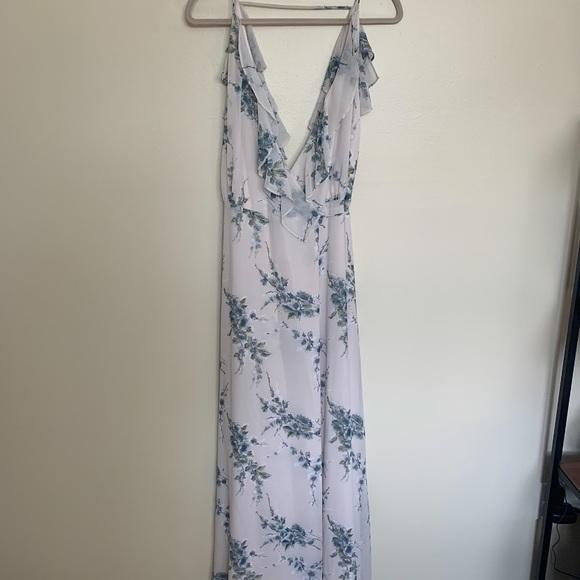 NWT WAYF Emma Ruffled Floral Wrap Dress